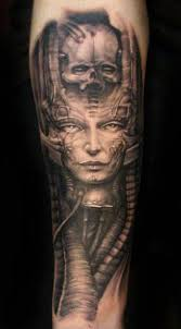 Biomechanical Tattoo Face | face tattoo by bartosz panas face tattoos tattoos gallery and tattoo