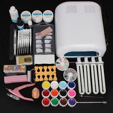 amazon com 9w uv lamp light bulb tube gel nail art dryer set of