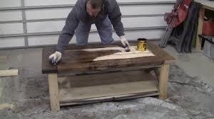 How To Make A Tabletop Out Of Reclaimed Wood by How To Build And Distress Farmhouse Style Coffee Table