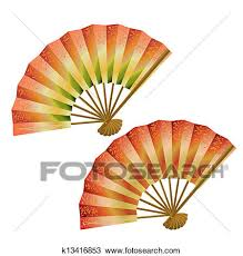 japanese fans clipart of set of japanese fans k13416853 search clip