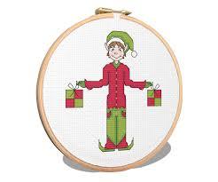 christmas elf cross stitch pattern cross stitch patterns