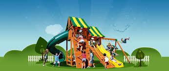 residential playgrounds wooden playsets swing sets accessories