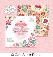 floral wedding card vector clip art search illustration