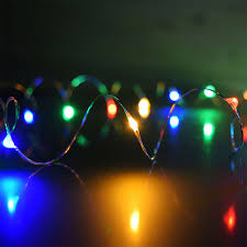 multi color in led dew drop string lights