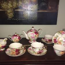 country roses tea set find more royal elfreda country set 4 tea cups and saucers