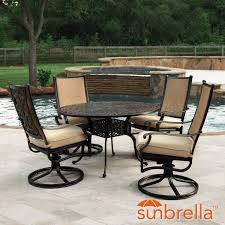 bocage 5 piece cast aluminum sling patio dining set w 48 inch