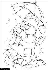 raincoat paddington bear coloring ecoloringpage