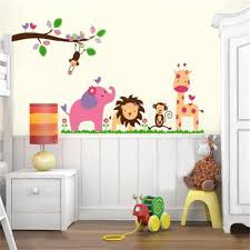 jungle animals wall decals for nursery color the walls of your house jungle animals wall decals for nursery animals tree wall decals removable sticker