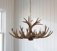 Deer Antler Light Fixtures Faux Antler Chandelier Pottery Barn