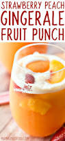 strawberry peach gingerale fruit punch perfect for summer