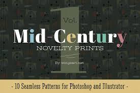 Mid Century Patterns by Mid Century Novelty Prints Vol 1 Patterns Creative Market