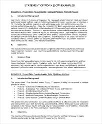 Scope Of Work Template Excel Statement Of Work Template Resume Templates