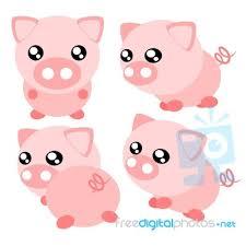 cartoon pig illustration stock image royalty free image id 100139059