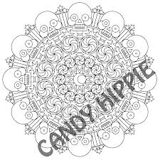 halloween candy coloring pages 2spooky halloween mandala candyhippie coloring pages