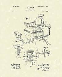 Barbers Chairs Barbers Chair 1901 Patent Art Drawing Barbers Chair 1901 Patent