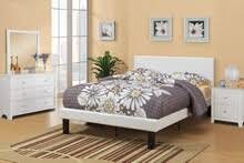 poundex f9358t bernadette ii collection white faux leather tufted