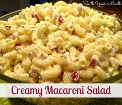 south your mouth creamy macaroni salad