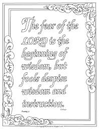 coloring pages for kids by mr adron proverbs 1 7 the fear of