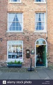 the clock shop in market bosworth leicestershire stock photo