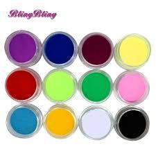 aliexpress com buy 12pcs acrylic powders nail art mix colors