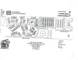Property Line Map Map Of The Property St Augustine Beach U0026 Tennis Resort