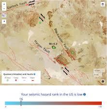 Us Desert Map Earthquake News Temblor Net Part 3