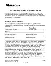 hipaa release form templates fillable u0026 printable samples for