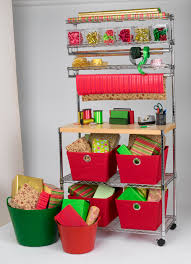 wrapping station ideas utility cart wrapping station wheel it where you need it