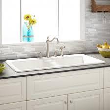 drop in farmhouse sink kitchen 43 selkirk white double bowl cast iron drop in kitchen