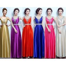 Royal blue champagne gold fuchsia hot pink red violet A line