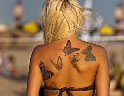 butterfly lower back tattoos