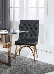 Contemporary Black Dining Chairs Modrest Rosie Modern Black Rosegold Dining Chair Set Of 2