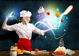 cuisine magique magie dans la cuisine image stock image du ligne adulte 28386653