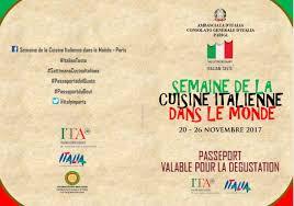 consolato d italia parigi seconda settimana della cucina italiana nel mondo 20 26 novembre