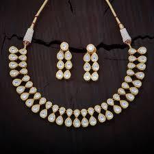 white necklace images Kundan white necklace tak155 kushal 39 s fashion jewellery jpg