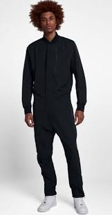 mens jumpsuit fashion s nike tech air jumpsuit black 898298 010 size 2xl ebay