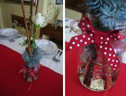 Xmas Table Decorations by Diy Christmas Table Decorations In Red My Italian Wedding