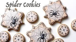 halloween spider cookies youtube