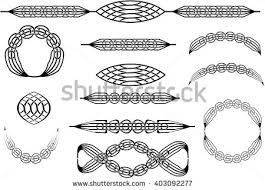 collection celtic knot abstract ornaments brushes stock vector