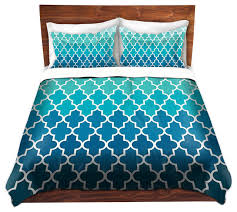 Mermaid Duvet Set Dianoche Duvet Covers Twill By Organic Saturation Aqua Ombre
