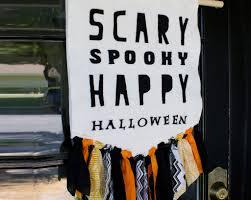 Happy Halloween Banner by Halloween Door Banner U2013 Festival Collections