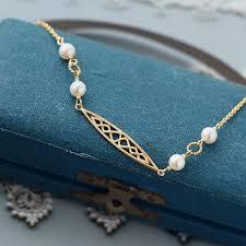 silver vintage necklace images Freshwater pearl bracelet 14k gold plated sterling silver vintage jpg
