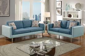 Modern Fabric Sofa Sets Modern Blue Fabric Sofa Set