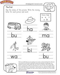 the end u2013 english worksheet for kids on final consonant sounds
