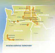 Oregon And Washington Map by Avista About Us