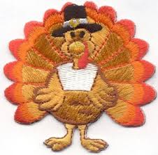 thanksgiving turkey iron on patch applique