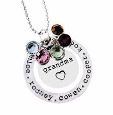 grandmother birthstone jewelry birthstone necklace with family names