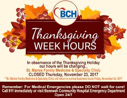 benewah community hospital thanksgiving week 2017 hours