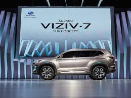 subaru viziv interior subaru just unveiled a new three row suv called the viziv 7
