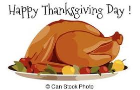 vector clipart of thanksgiving day baked turkey dinner